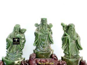 Bộ ba ông tam đa ( phúc - lộc - thọ ) ngọc bích